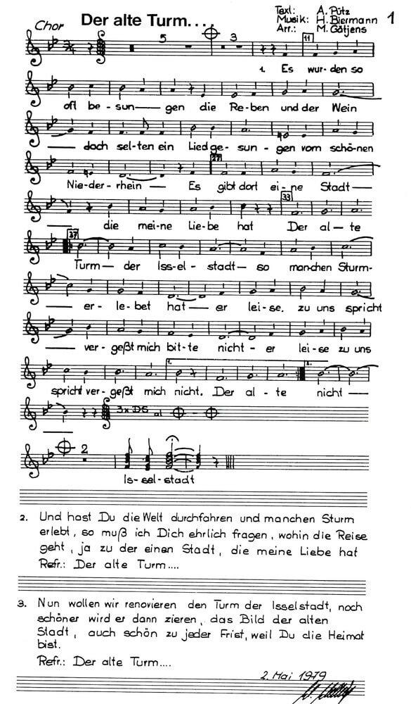 Lied Der Alte Turm Heimatkreis Isselburg E V